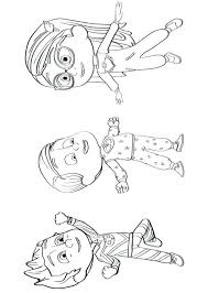 Pj Masks Coloring Pages Also Majestic Masks Coloring Page For Frame
