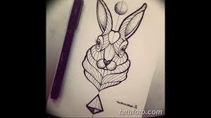 эскизы тату кролик фото примеры рисунков значение история