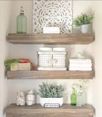 You can hold all of your essentials, like lotion, cotton balls and tweezers. 21 Brilliant Modern Bathroom Shelves Decor Ideas For Better Storage Latest Fashion Trends For Woman Bathroom Shelf Decor Home Decor Shelves Shelf Decor
