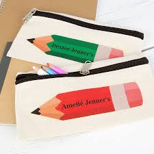 Decorate Pencil Case Personalised Coloured Pencil Case By 3 Blonde Bears