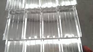 Transparent Aluminium Finish 07mm Corrugated Aluminum Roofing Sheet 1000 Series