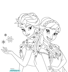 Printable Frozen Fever Coloring Pages