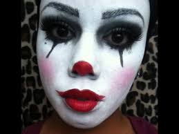 when applying clown makeup use white makeup to exaggerate the eyes the mouth and