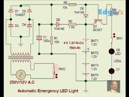 automatic emergency led light circuit diagram automatic emergency led light circuit diagram