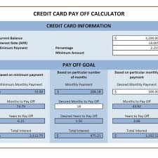 Credit Card Payoff Calculator Excel Templates Within Credit Card