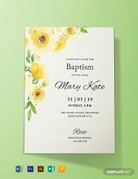 Baptism Card Template Free Baptism Invitation Card Template Word Psd