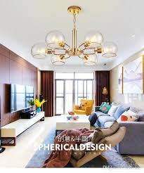 nordic luxury crystal gold living room dining room chandelier post modern minimalist clothing personality bar glass chandelier chandelier lamp shades
