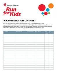 009 Free Printable Volunteer Sign Up Sheet From Regarding