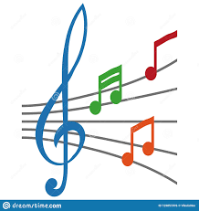 Treble Clef Music Simple Musical Note Symbol Treble Clef Concept Music Notes With