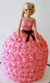 Barbie Pink Dress Cake Fondant Cakes In Lahore Free Delivery