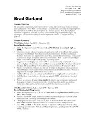 Career Overview Resume Examples career objective resume examples for example your training goals and 1