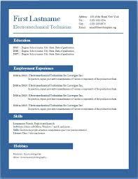 Curriculum Vitae Resume Samples Download Free Template Microsoft