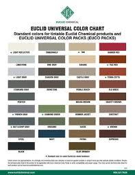Tremco Dymonic Fc Color Chart Tremco Color Pack Chart