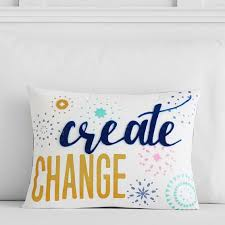 create a pillow. Delighful Create Bright Spirits Create Change Pillow Cover Throughout A O
