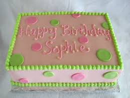 happy birthday pink and green happy birthday pink green sheet cake rose bakes