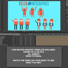 Motion Template Motion Graphic Template Killer Character Animations