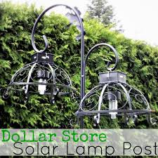 i did not come up with the idea of taking solar lights from dollar tree and turning them into outdoor hanging lights sharon from keen inspirations linked