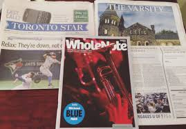 searching for the bermuda triangle english as a second language toronto star newspaper the varsity newspaper and the whole note magazine strewn across my