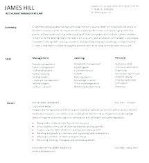 Restaurant Manager Resume Skills Functional Resume Restaurant Server Sample For Worker Transform