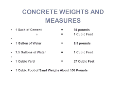 Conversion Chart For Concrete One Yard Of Concrete Coverage Nixadp Info