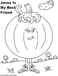 Pumpkin Coloring Page For Sunday School