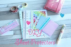 sheet protector book diy sheet protectors pimp my planner youtube