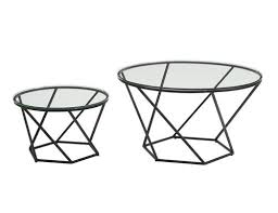Glass nesting coffee tables Antique Geometric Glass Nesting Coffee Tables Black Amazoncom Geometric Glass Nesting Coffee Tables Black By Walker Edison