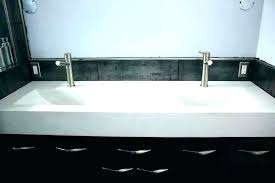 sinks for bathroom two faucet sink trough with faucets double great brushed gold side si