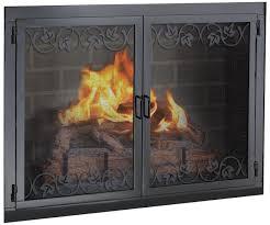 Stoll Fireplace Inc  Custom Glass Fireplace Doors Heating Black Fireplace Doors