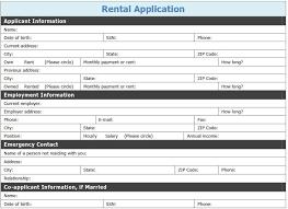 Free Printable Rental Application Template Tags Printable