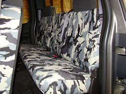 camo grey rear bench seat covers ford truck