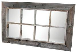 rustic wall mirrors 8 panel barn wood window pane mirror rustic wall mirrors