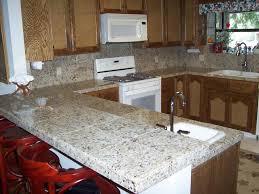 Granite Kitchens Kitchen Nice Kitchen With Curved Counter And Dark Gray Granite