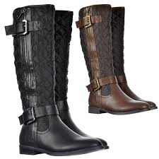 Black Quilted Boots - Boots Price & Reviews 2017 & ... Onlineshoe Women s Quilted Knee High Riding Boots With Buckle and  Straps Feature Black Tan Brown Adamdwight.com