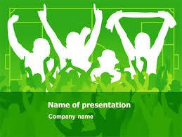 Soccer Fan Powerpoint Template Backgrounds 07555
