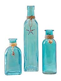 Decorative Blue Glass Bottles