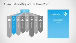Powerpoint Infographic Template Free Free Arrow Options Diagram For Powerpoint