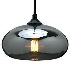 smoked glass pendant lamp shade