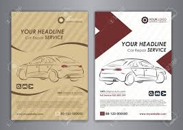 A5 A4 Set Car Repair Service Business Layout Templates Automobile