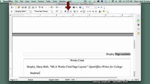 14 Setting Up Mla Style Works Cited Page In Openoffice Writer