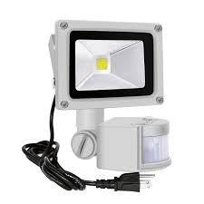 Motion Sensor Flood Light Settings Motion Sensor Flood Lights Outdoor 10w Induction Led Lamp Ip65 Waterproof Spotlight 6500k Led Sensor Light Security Light With Us 3 Plug Daylight