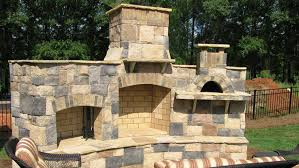 outdoor fireplace brick oven plans designs