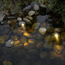 low voltage garden rocks lights kit