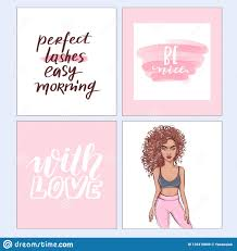 Vector Fashion Posters With Positive Quotes Home Decor Photo Frame