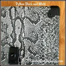 Python Pattern Unique Black And White Python Pattern Tolex NEW 48x48 KIT EBay