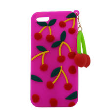 china fashion cherry rubber diy silicone phone case for iphone china diy silicone phone case silicone phone case
