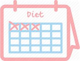 Aim Calendar Challenge Diet Fit Plan Icon