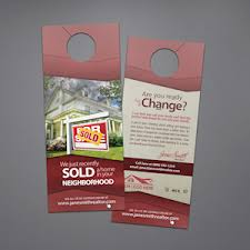 Real Estate Door Hanger Template: RAC-DH21  Realty Cards