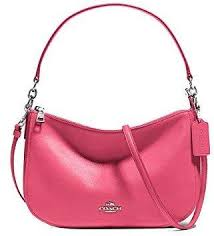 Coach 37018-SVDUL CHELSEA Crossbody Bag in Smooth Calf Leather - Dahlia PINK