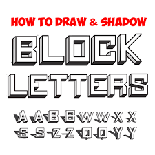 how to draw 3d block letters drawing 3 dimensional bubble letters casting shadows tutorial